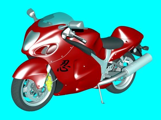 Red Ninja Motorcycle