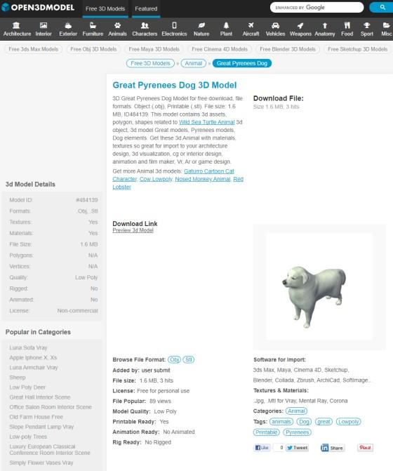 Open3dModel_Great_Pyrenees_Dog_ts.jpg