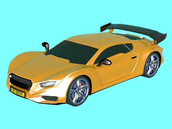 Yellow Averon Gt Car