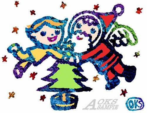イラスト、クリスマス、Xmas、サンタ、ファンタジー、オケス