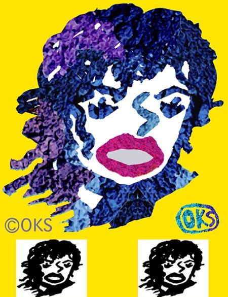 子供イラスト、マイケルジャクソン、似顔絵、