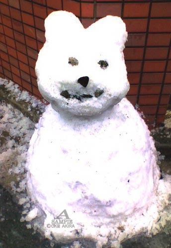 猫 イラスト 雪だるま 写真