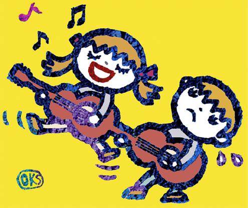 子供 音楽 イラスト ギター 楽器