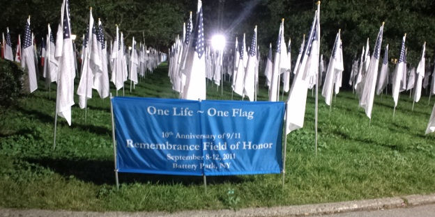 One life, One Flag at Battery Park, NYC