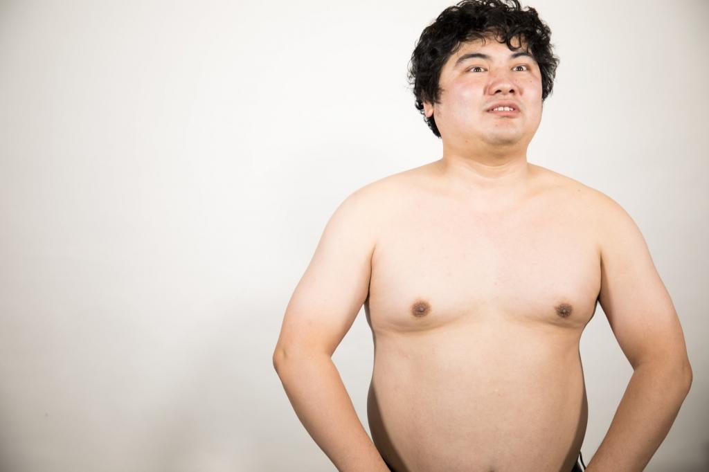 ダイエットする男性