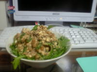 豆腐と大豆と水菜だらけ