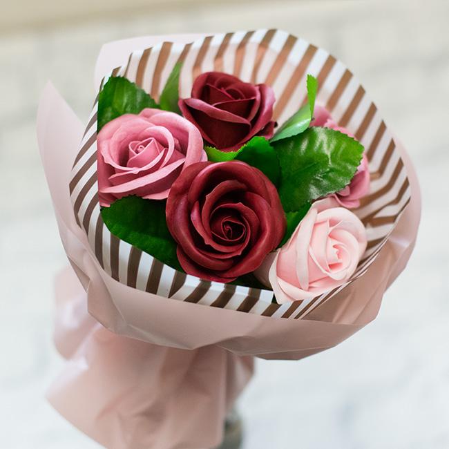 お花の入浴剤カフェオレブーケ