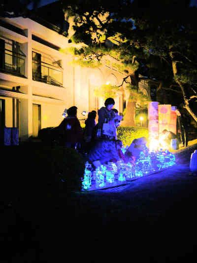夜灯(よとぼし)の神谷伝兵衛稲毛別荘のライトアップの画像