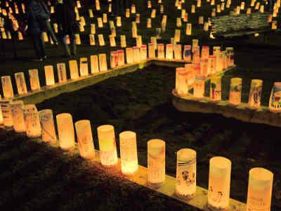 夜灯(よとぼし)の稲毛公園の灯篭_2の画像