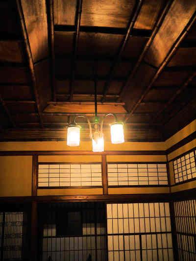 旧神谷伝兵衛稲毛別荘の2階の書院造りの和室の画像