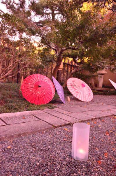 見浜園のsh往来邸の和傘の画像