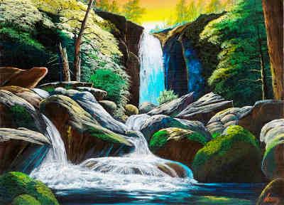 濃溝の滝の画像