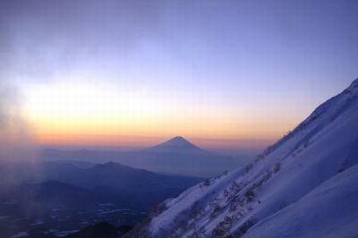 八ヶ岳からの富士山