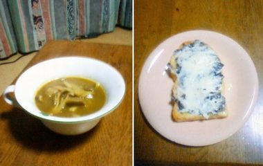 キノコのカレースープ