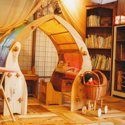 木のおもちゃユーロバスの遊び場 キッズスペース
