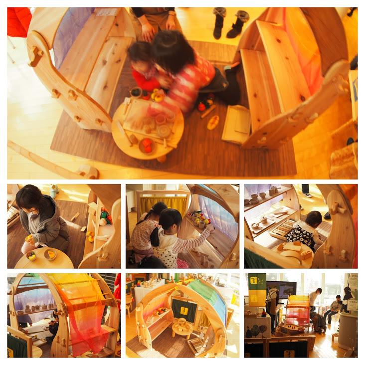 グッド・トイ 木育おもちゃの広場 キャラバンの様子 シュタイナー