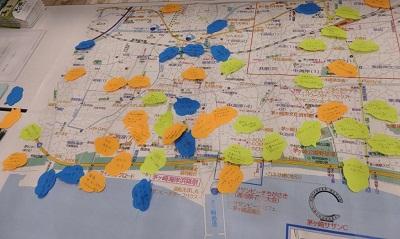 地図と付箋情報