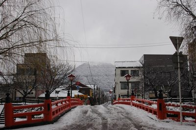 雪の花見橋