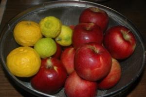 りんごと柚子
