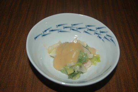 白にしとヤブカンゾウの辛子酢味噌和え