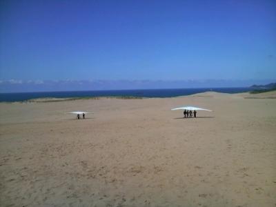 砂ハングライダー