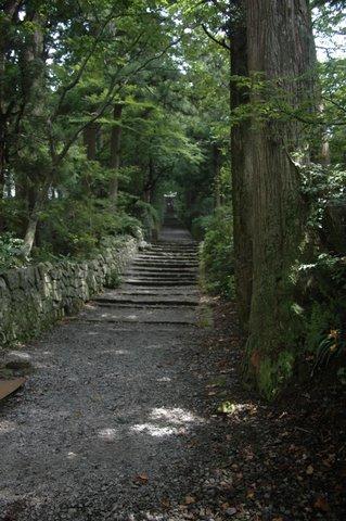 阿弥陀堂へ続く石段