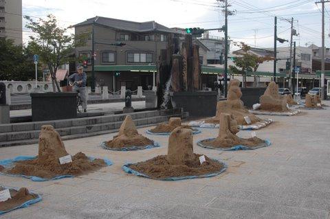 小さな砂像