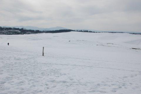 砂丘の雪景色