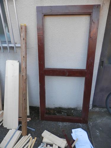 仮完成ドア