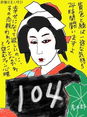 【歌舞伎美人時計】104