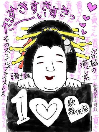 【歌舞伎美人時計】100