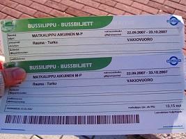 バスのチケット