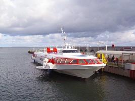 エストニア行き船