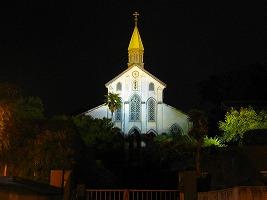 大浦天主堂ライトアップ