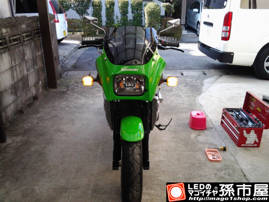 GPZ900R(カワサキ) K様 装着写真