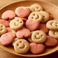 ちびすけ玄米クッキー(白xピンク)