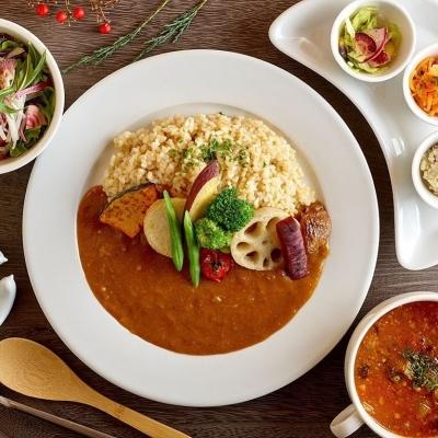玄米カレーセット