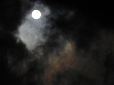 旧暦 師走の 十七夜月