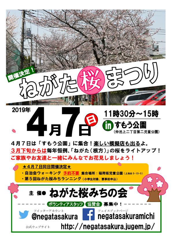 2019ねがた桜まつりポスター