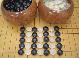 天然瑪瑙(めのう)碁石