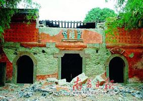 地震後の李白旧居