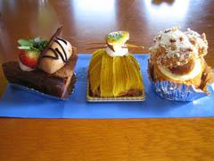カトウのケーキ3種
