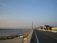 新田大橋のたもと付近。