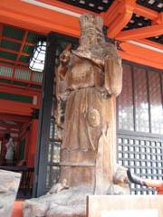 磯良丸の木像