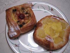 りんごのキャラメル煮&パインデニッシュ