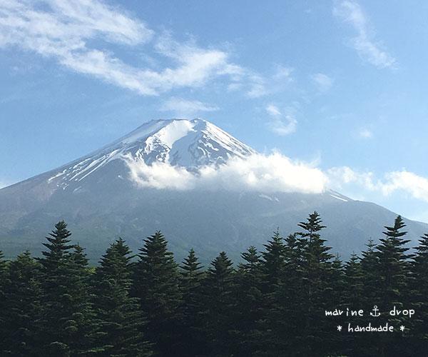 道の駅富士吉田からの富士山