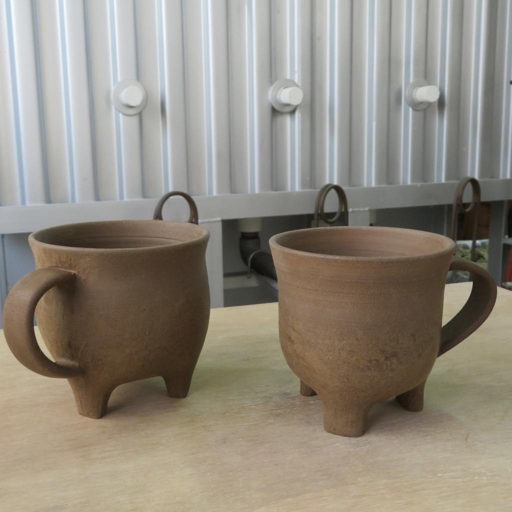 シマ窯 器制作過程 半乾き