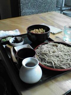 そば&ミニ海老かき揚げ丼