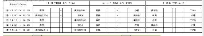 1/6(日)U-8,U-7カップ戦が入りました!