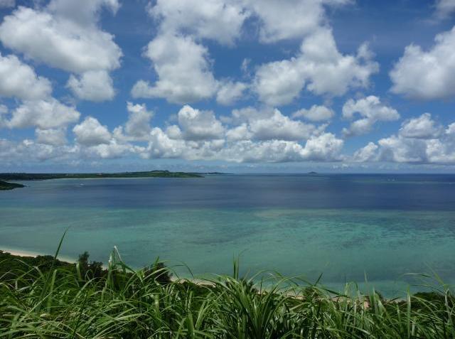 大神島遠望 横